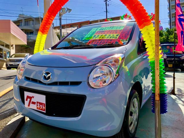 沖縄の中古車 マツダ キャロル 車両価格 48万円 リ済別 平成23年 5.1万km ブルー