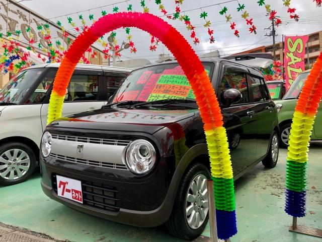 沖縄の中古車 スズキ アルトラパン 車両価格 98万円 リ済別 平成28年 2.0万km ブラウン