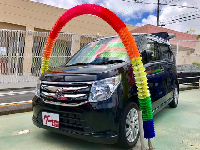沖縄の中古車 スズキ ワゴンR 車両価格 69万円 リ済別 2014(平成26)年 3.7万km ブラック
