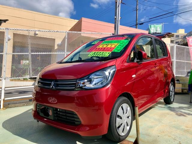 沖縄の中古車 三菱 eKワゴン 車両価格 69万円 リ済別 2015(平成27)年 2.2万km レッドM