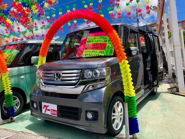沖縄の中古車 ホンダ N-BOXカスタム 車両価格 89万円 リ済別 2012(平成24)年 5.5万km ガンM
