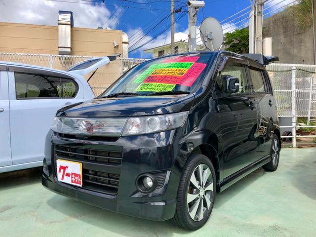 沖縄の中古車 スズキ ワゴンRスティングレー 車両価格 58万円 リ済別 2012(平成24)年 9.5万km ブラック