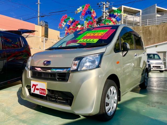 沖縄の中古車 スバル ステラ 車両価格 48万円 リ済別 2013(平成25)年 8.8万km ゴールド