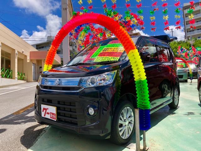 沖縄の中古車 スズキ ワゴンRスティングレー 車両価格 75万円 リ済別 2014(平成26)後 5.5万km ブラック