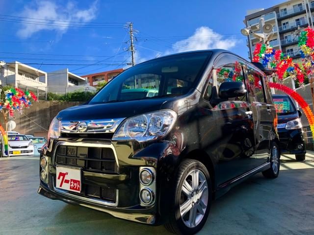 沖縄県の中古車ならタントエグゼ カスタムRSターボ ワンオーナー車 フルセグTVナビ ETC