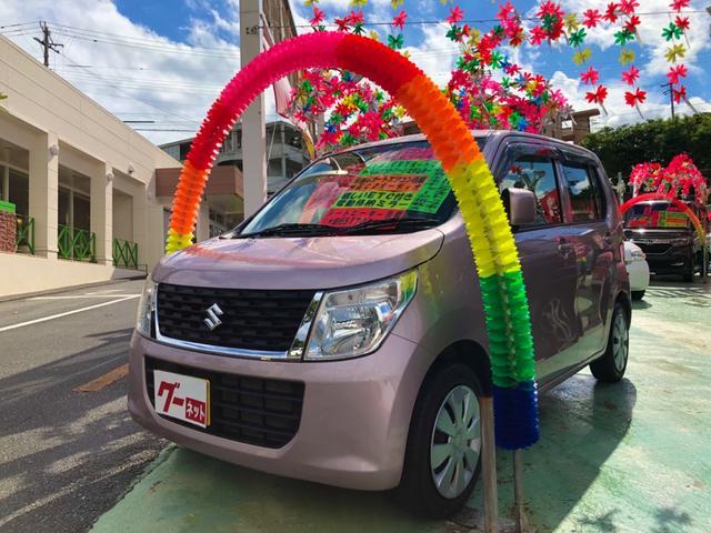 沖縄の中古車 スズキ ワゴンR 車両価格 59万円 リ済別 2014(平成26)年 5.0万km ピンク