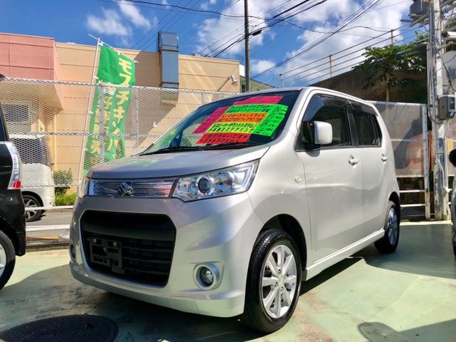 沖縄の中古車 スズキ ワゴンRスティングレー 車両価格 69万円 リ済別 2012(平成24)後 3.5万km シルバー