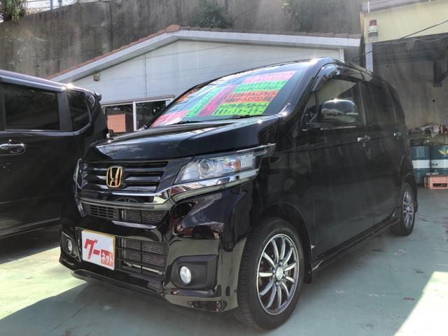 沖縄の中古車 ホンダ N-WGNカスタム 車両価格 79万円 リ済別 2014(平成26)年 6.6万km ブラック