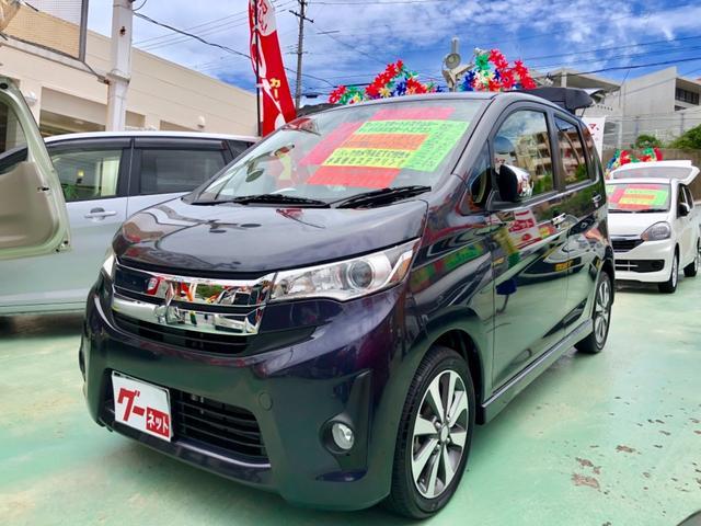 沖縄の中古車 三菱 eKカスタム 車両価格 69万円 リ済別 2013(平成25)年 4.6万km パープル