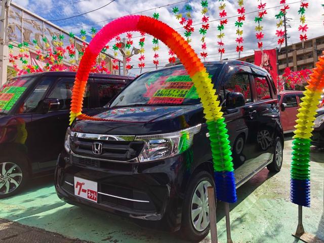 沖縄の中古車 ホンダ N-WGN 車両価格 88万円 リ済別 2017(平成29)後 1.7万km ブラック