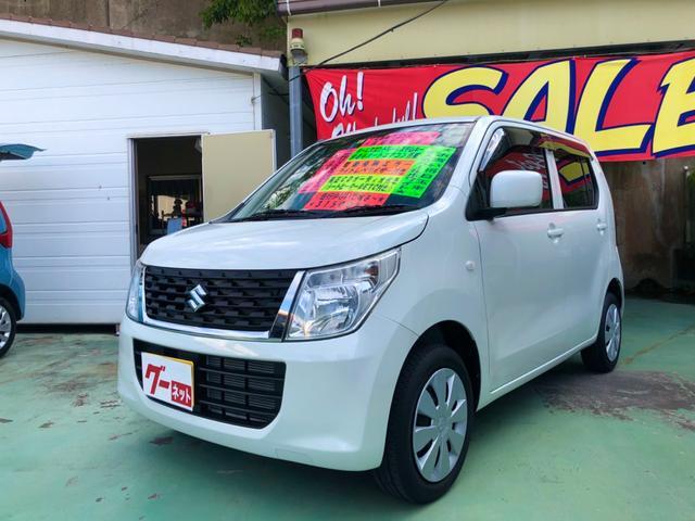 沖縄の中古車 スズキ ワゴンR 車両価格 68万円 リ済別 2014(平成26)後 3.2万km パールホワイト