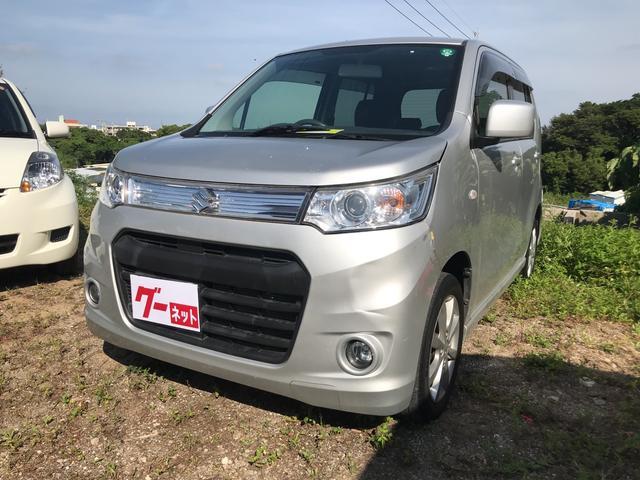 沖縄の中古車 スズキ ワゴンRスティングレー 車両価格 63万円 リ済込 平成25年 7.8万km シルバー
