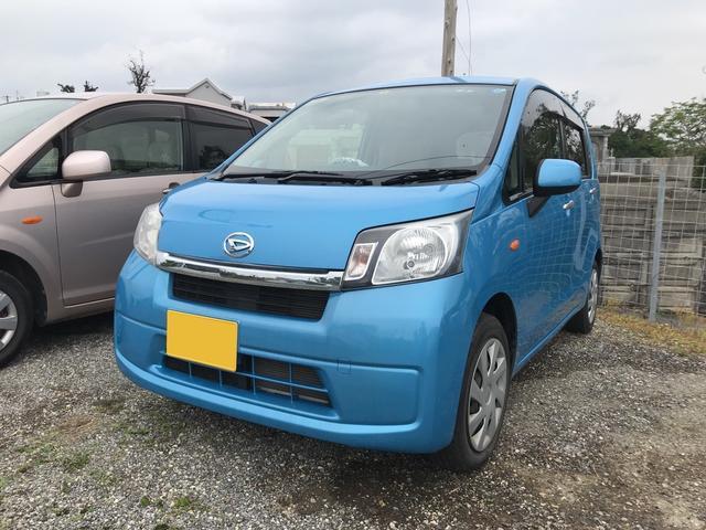 沖縄の中古車 ダイハツ ムーヴ 車両価格 62万円 リ済込 平成26年 2.8万km ブルー