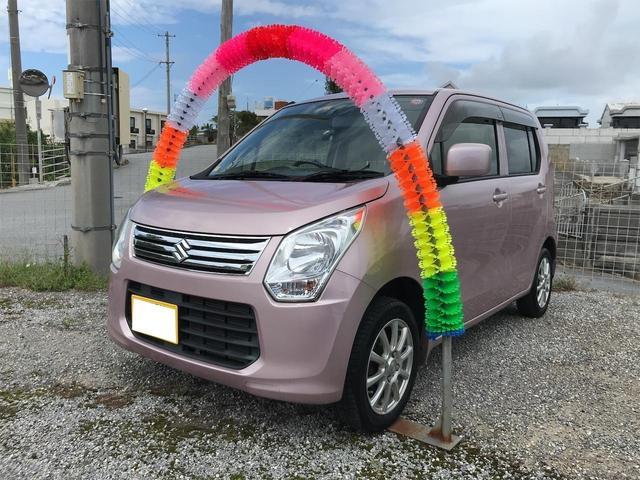 沖縄の中古車 スズキ ワゴンR 車両価格 38万円 リ済込 2014(平成26)年 9.8万km ピンク