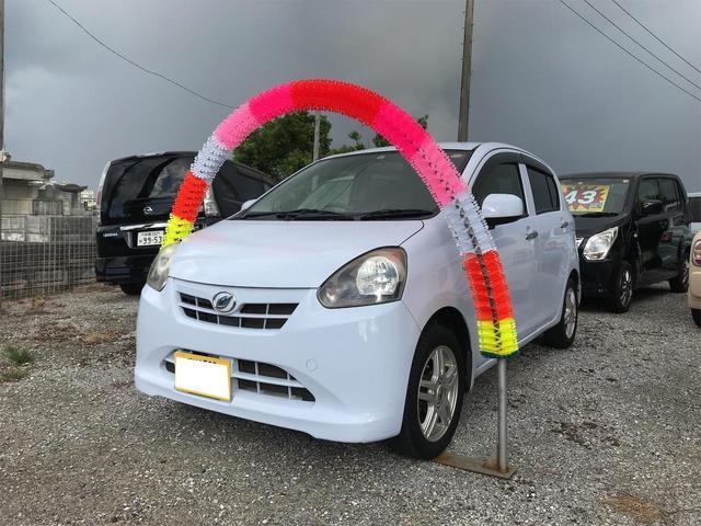 沖縄の中古車 ダイハツ ミライース 車両価格 27万円 リ済込 2012(平成24)年 9.1万km ライトブルー