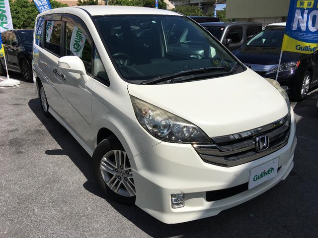 沖縄の中古車 ホンダ ステップワゴン 車両価格 52万円 リ済別 平成20年 14.5万km パールホワイト