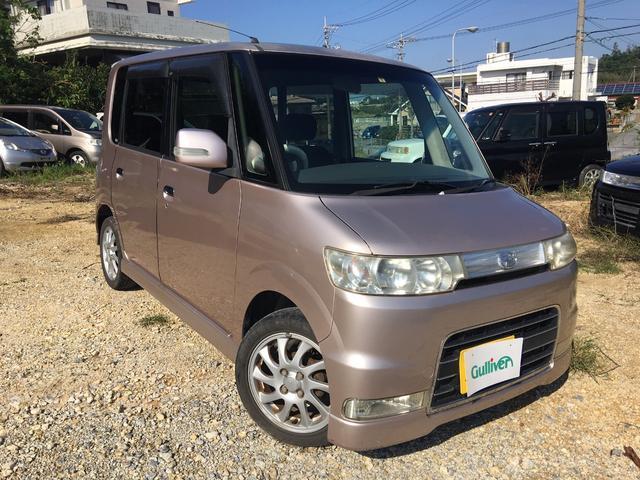 沖縄の中古車 ダイハツ タント 車両価格 32万円 リ済別 平成19年 7.7万km ピンク