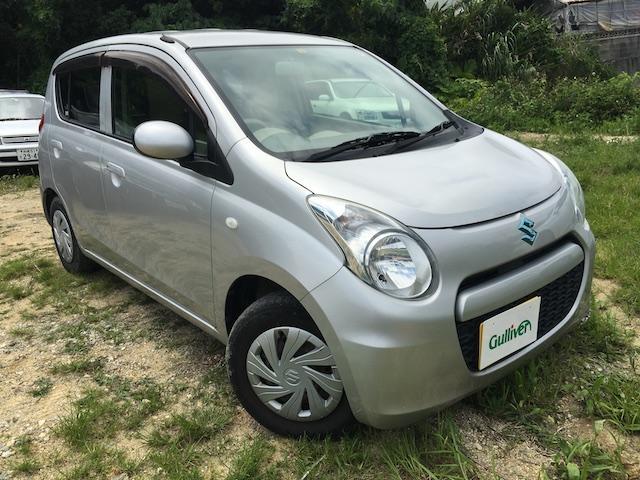 沖縄の中古車 スズキ アルトエコ 車両価格 48万円 リ済別 2012(平成24)年 3.0万km シルバー