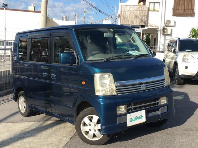 沖縄県の中古車ならエブリイワゴン PZターボ 衝突安全ボディ/CD・MD再生