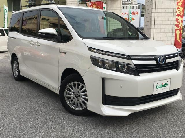 沖縄県の中古車ならヴォクシー ハイブリッドX 衝突安全ボディ/バックカメラ/Bluetooth/TV・CD・DVD再生