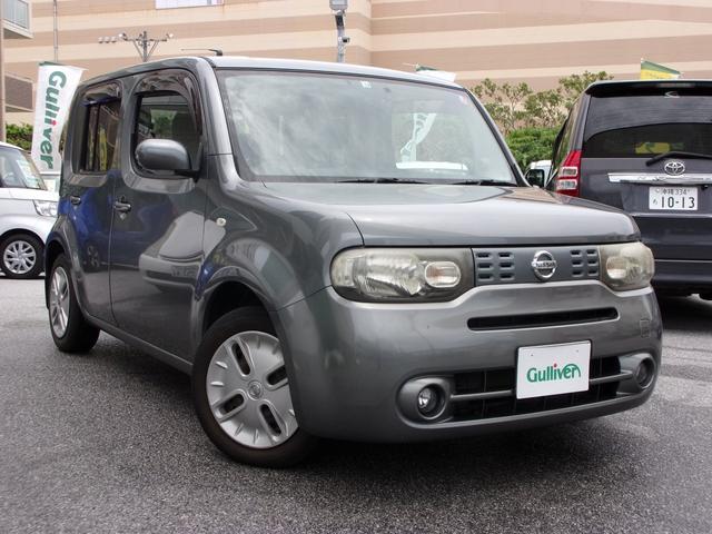 沖縄の中古車 日産 キューブ 車両価格 47万円 リ済別 2008(平成20)年 8.5万km グレー