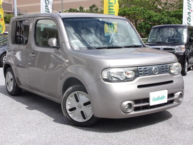 沖縄県の中古車ならキューブ 15X Vセレクション 電動格納ミラー・オートライト・ETC・ナビ・Bluetooth・バックカメラ・TV・ドライブレコーダー・CD/DVD