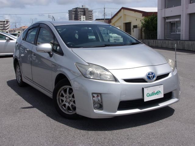 沖縄の中古車 トヨタ プリウス 車両価格 44万円 リ済別 2009(平成21)年 19.2万km シルバー