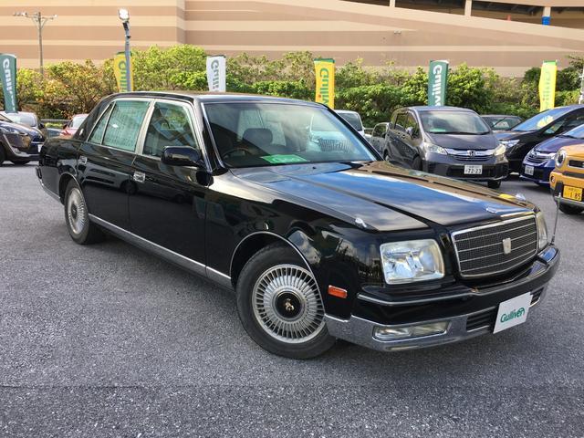 沖縄県の中古車ならセンチュリー フロアシフト ドアミラー 本革シート 神威エターナルブラック リア席DVD