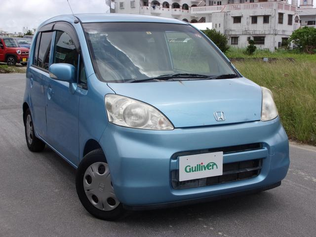沖縄の中古車 ホンダ ライフ 車両価格 34万円 リ済別 2008(平成20)年 10.9万km ライトブルー