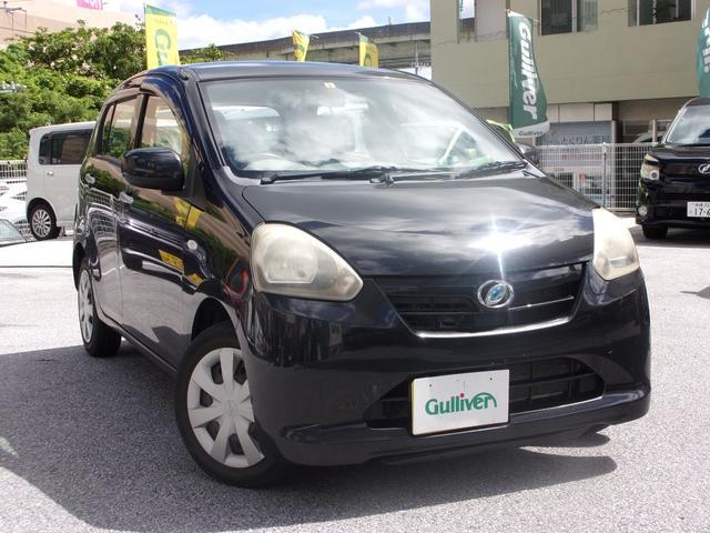 沖縄の中古車 ダイハツ ミライース 車両価格 33万円 リ済別 2012(平成24)年 12.6万km ブラック