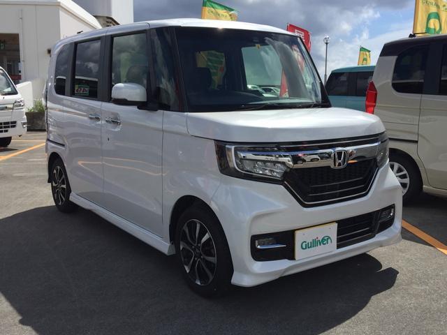 沖縄県の中古車ならN-BOXカスタム G・Lホンダセンシング コーナーセンサー・クルーズコントロール・両側パワースライドドア・Bluetooth・バックカメラ・ETC・電動格納ミラー・オートライト