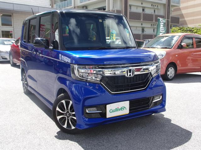沖縄県の中古車ならN-BOXカスタム G・Lホンダセンシング コーナセンサー・Bluetooth・クルーズコントロール・レーンキープアシスト・両側パワースライドドア・オートライト・電動格納ミラー・ETC・バックカメラ・LEDヘッドランプ・純正アルミタイヤ