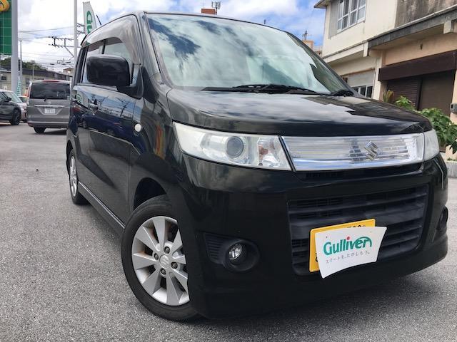 沖縄県の中古車ならワゴンRスティングレー X 純正アルミ 社外オーディオ プッシュスタート