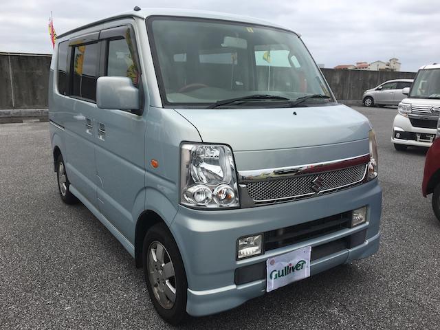 沖縄の中古車 スズキ エブリイワゴン 車両価格 44万円 リ済別 2008(平成20)年 14.3万km ライトブルー
