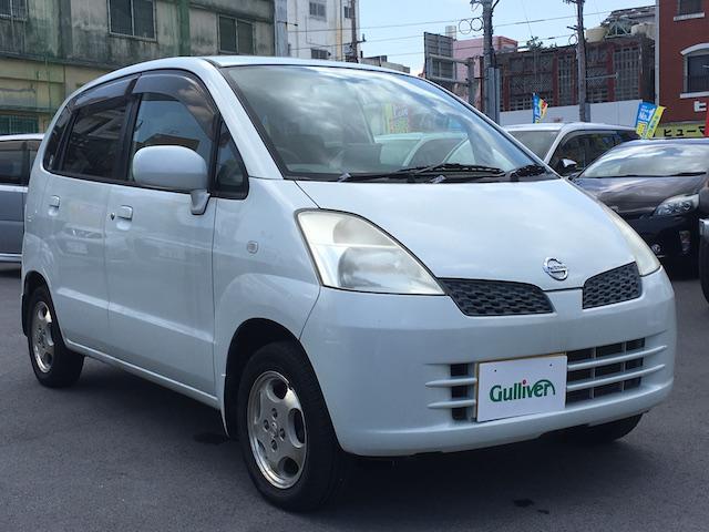 沖縄の中古車 日産 モコ 車両価格 34万円 リ済別 2004(平成16)年 9.6万km ホワイト