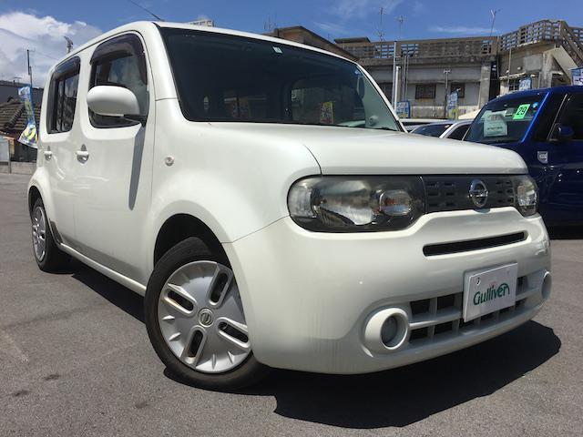 沖縄の中古車 日産 キューブ 車両価格 39万円 リ済別 2009(平成21)年 8.7万km パール