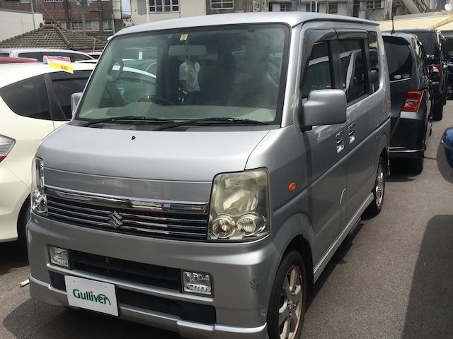 沖縄県の中古車ならエブリイワゴン PZターボスペシャル 社外ナビ 両側Pスラ