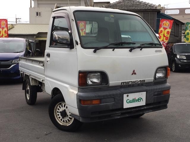 沖縄の中古車 三菱 ミニキャブトラック 車両価格 34万円 リ済別 1997(平成9)年 4.2万km ホワイト