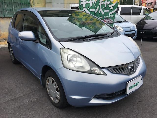 沖縄の中古車 ホンダ フィット 車両価格 49万円 リ済別 2008(平成20)年 6.3万km ライトブルー