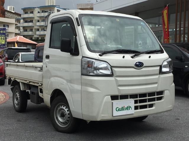 沖縄市 ガリバー コザ十字路店 スバル サンバートラック TB エアコン・4WD・ドアバイザー ホワイト 0.9万km 2018(平成30)年