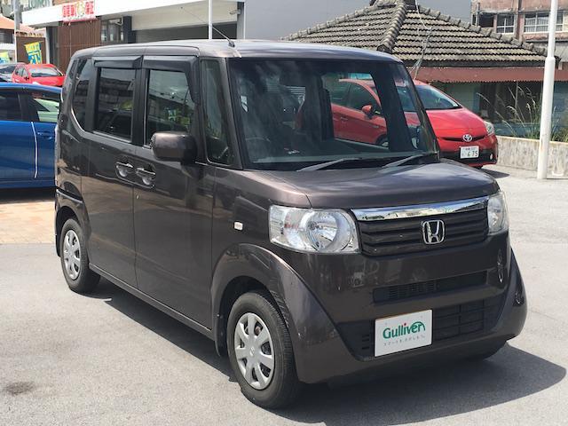 沖縄県の中古車ならN-BOX G・Lパッケージ 純正オーディオ 左パワスラ