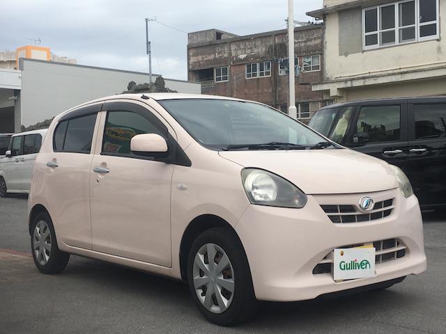 沖縄の中古車 ダイハツ ミライース 車両価格 49万円 リ済別 2012(平成24)年 3.2万km ピンク