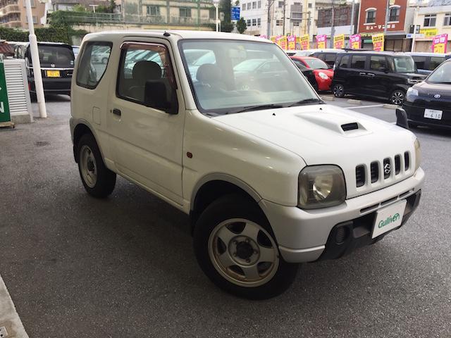 沖縄の中古車 スズキ ジムニー 車両価格 44万円 リ済別 2001(平成13)年 11.8万km ホワイト