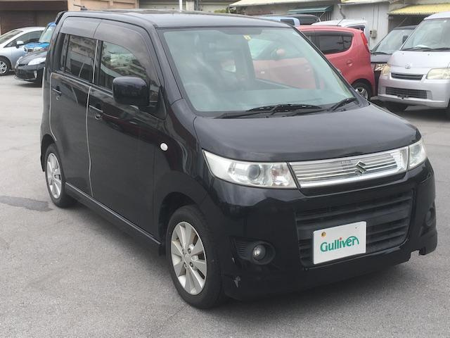 沖縄の中古車 スズキ ワゴンRスティングレー 車両価格 49万円 リ済別 2011(平成23)年 7.3万km ブラック