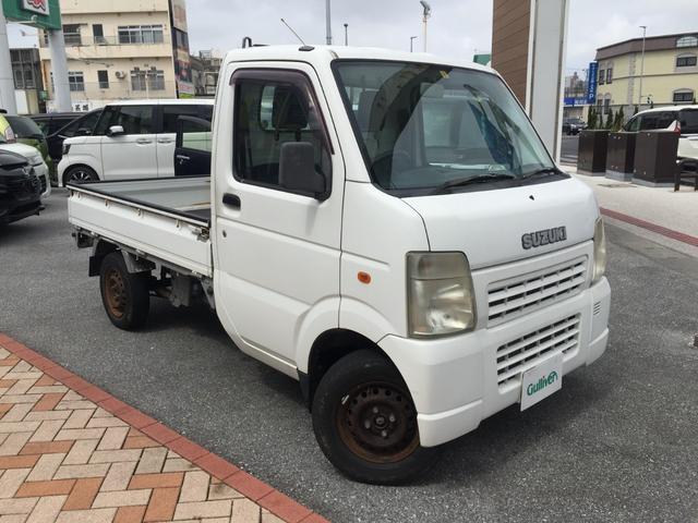沖縄の中古車 スズキ キャリイトラック 車両価格 54万円 リ済別 2007(平成19)年 3.8万km ホワイト
