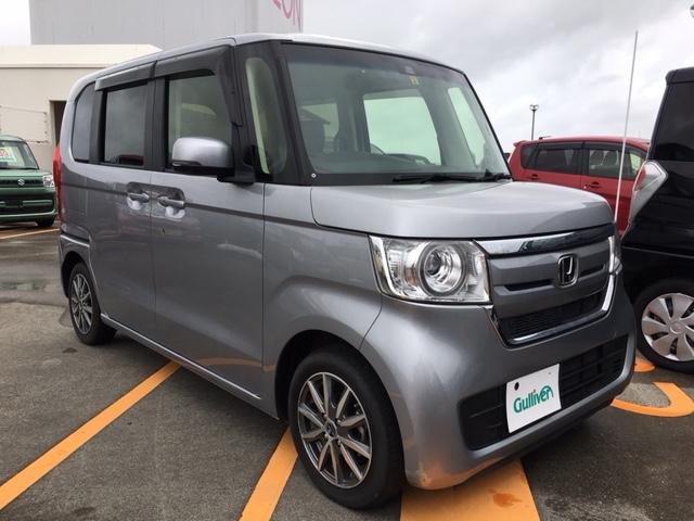 沖縄県の中古車ならN-BOX G・Lホンダセンシング ディスプレイオーディオ Bカメラ 左パワスラ クルコン 社外アルミ