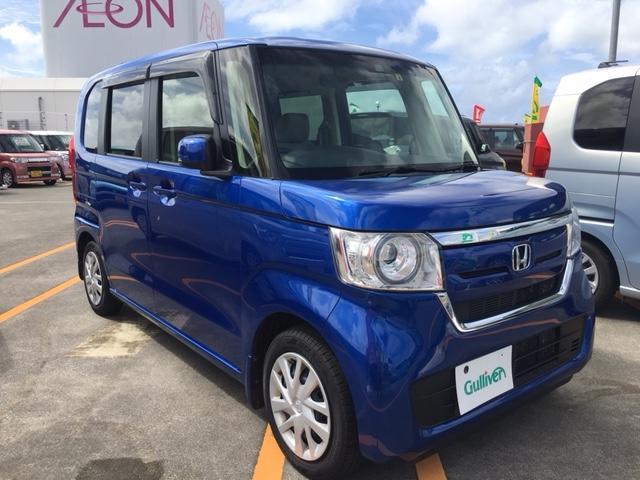 沖縄県沖縄市の中古車ならN-BOX G・Lホンダセンシング ディスプレイオーディオ 左パワスラ クルコン