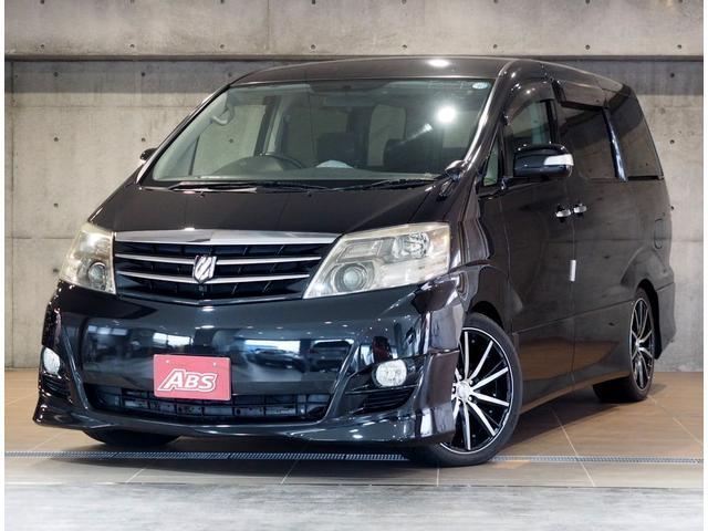 沖縄の中古車 トヨタ アルファードV 車両価格 69万円 リ済別 平成17年 10.6万km ブラックマイカ