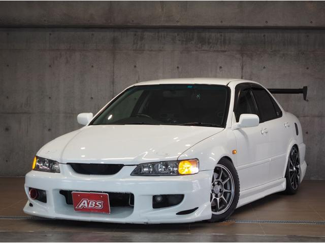 沖縄の中古車 ホンダ アコード 車両価格 58万円 リ済別 平成13年 13.7万km ホワイト替