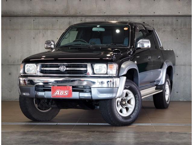 トヨタ ダブルキャブ ワイド エアコン 4WD 記録簿 メッキ